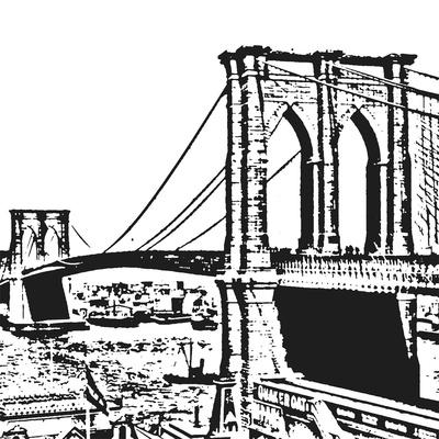 Black Brooklyn Bridge Prints by Veruca Salt