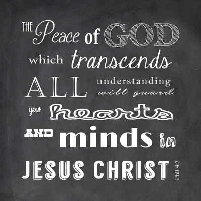 The Peace of God - black Posters by Veruca Salt