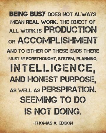 Seeming to Do is Not Doing -Albert Einstein Print by Veruca Salt