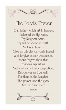 The Lord's Prayer - Floral Art by Veruca Salt