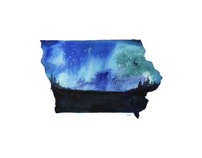 Iowa State Watercolor Posters by Jessica Durrant