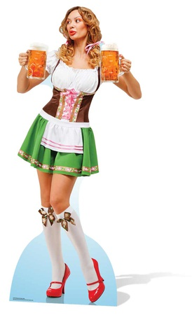 Oktoberfest Beer Babe Figura de cartón