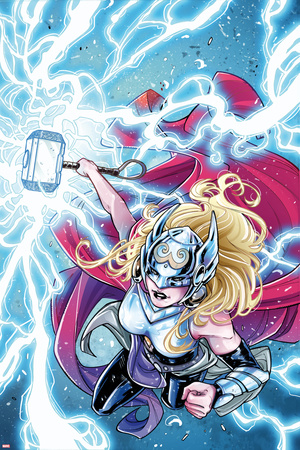 Mighty Thor No. 5 Cover Featuring Thor (Female) Print by Laura Braga