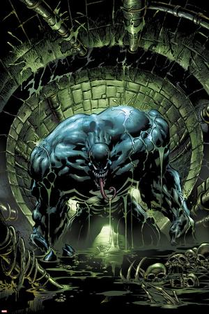 Marvels Spider-Man Panel Featuring Venom Print