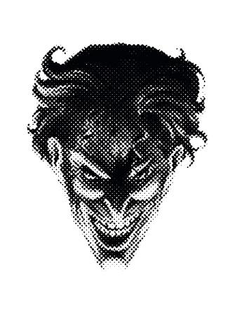 The Joker's devilish face