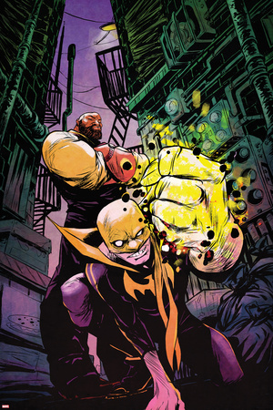 Power Man and Iron Fist No. 1 Cover Featuring Power Man, Iron Fist Print by Sanford Greene