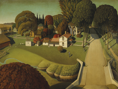 The Birthplace of Herbert Hoover, West Branch, Iowa, 1931 Giclee Print by Grant Wood