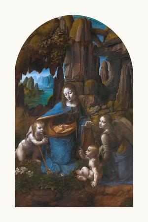 Virgin of the Rocks, 1495 - 1508 Premium Giclee Print by Leonardo Da Vinci