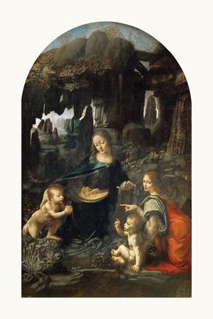Virgin of the Rocks, 1483 - 1486 Premium Giclee Print by Leonardo Da Vinci