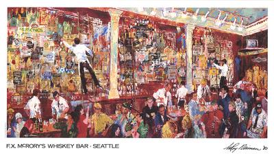 F.X. McRory's Whiskey Bar-Seattle Prints by LeRoy Neiman