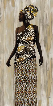 Kitenge Giclee Print by Mark Chandon