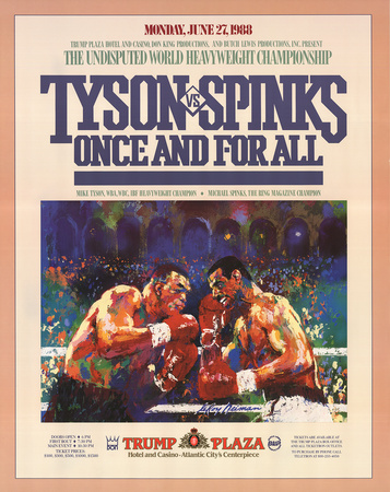 Tyson vs. Spinks: Once and for All Art by LeRoy Neiman