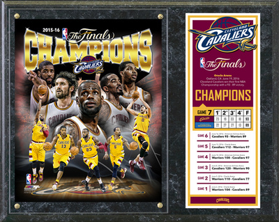Cleveland Cavaliers 2016 NBA Champions Composite Plaque Wall Sign