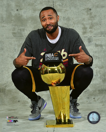 Mo Williams with the NBA Championship Trophy Game 7 of the 2016 NBA Finals Photo