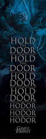Game Of Thrones- Hold The Door Hodor Poster