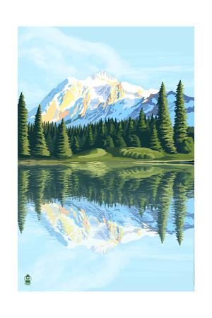Mount Shuksan (Image Only) Prints by  Lantern Press