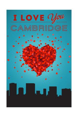 I Love You Cambridge, Massachusetts Poster by  Lantern Press