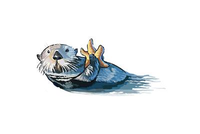 Sea Otter - Icon Prints by  Lantern Press