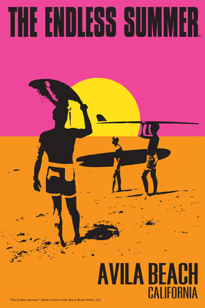 Avila Beach, California - the Endless Summer - Original Movie Poster Prints by  Lantern Press