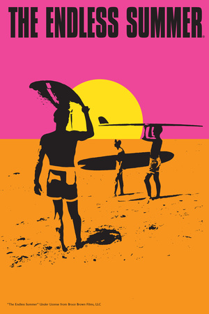 The Endless Summer - Original Movie Poster Plakater af  Lantern Press