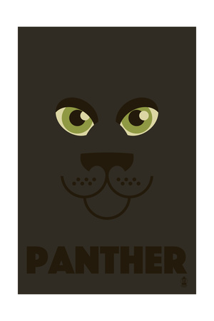 Zoo Faces - Panther Poster by  Lantern Press