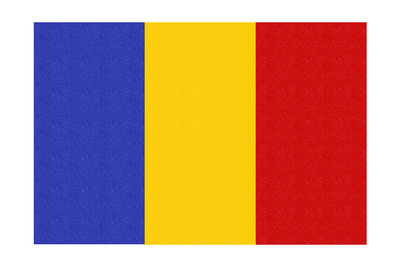 Romania Country Flag - Letterpress Prints by  Lantern Press