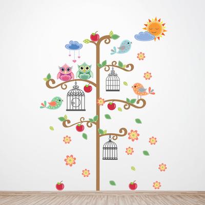 Birdcage Tree Vinilo decorativo