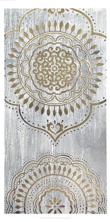 Metallic Foil Indigo Mandala I Prints by June Erica Vess