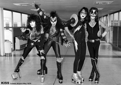 Kiss- London Airport 1976 Prints