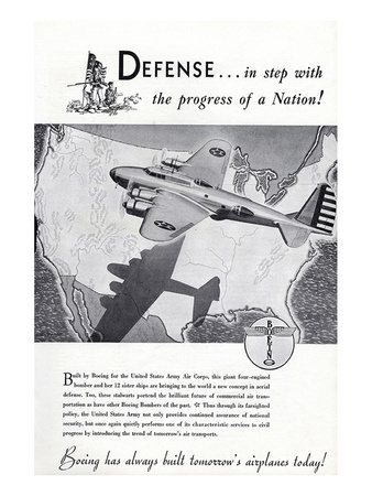 1940 Defense Boeing ad Prints by  Anonymous