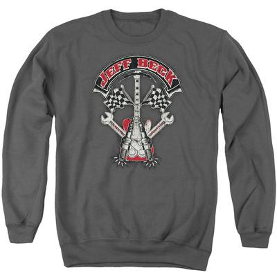 Crewneck Sweatshirt: Jeff Beck- Superstitous Guitar Distressed T-Shirt