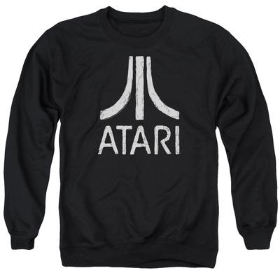 Crewneck Sweatshirt: Atari- Distressed Logo Shirts
