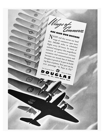 DC-3 Wings of Commerce Ad Posters by  Anonymous