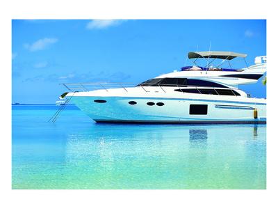 Baros Maldives Yacht Kunstdruck von  Anonymous