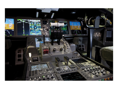 Boeing 787 Dreamliner Flight Deck Kunstdrucke von  Anonymous