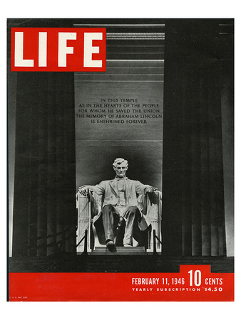 LIFE Lincoln Memorial 1946 Prints by  Anonymous