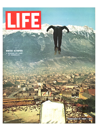 LIFE Jumper Innsbruck Olympics Prints by  Anonymous