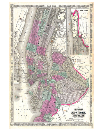 New York City & Brooklyn 1866 Prints by Johnson Wiki Common