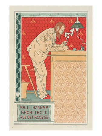 Paul Hankar Architect Art by Adolphe Crespin