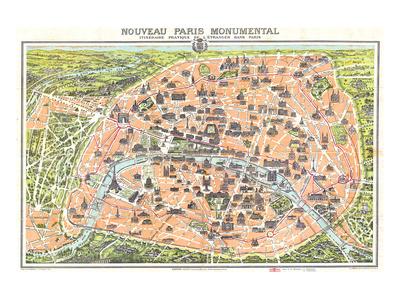 Nouveau Paris Monumental 1910 Prints by  Leconte