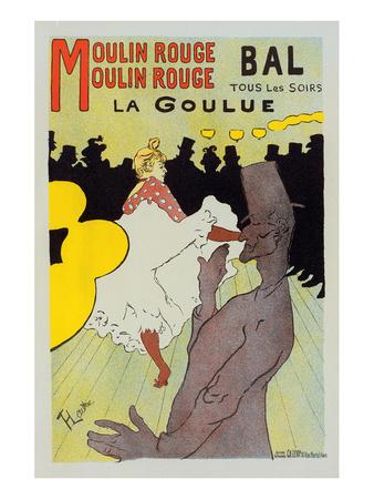 Moulin Rouge La Goulue Posters by Henri de Toulouse-Lautrec
