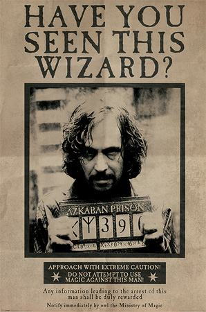 Harry Potter- Sirius Black Wanted Poster Plakat