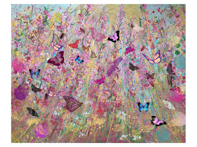 Wild flowers Print by Claire Westwood