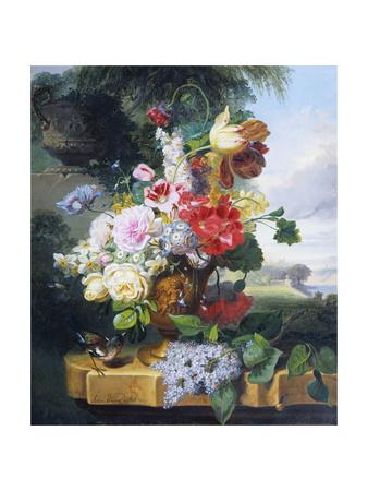 Flower-Piece Giclee Print by John Wainwright