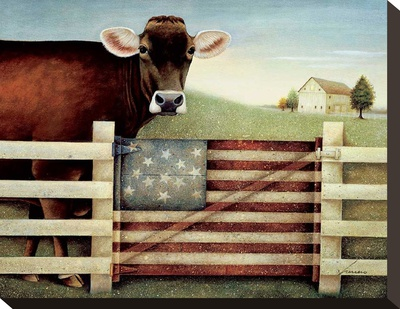 Proud Gate Stretched Canvas Print by Lowell Herrero