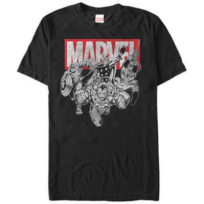 The Avengers- Black & White Charge T-shirts