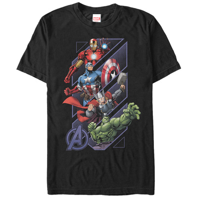 The Avengers- Slant Panels T-shirts