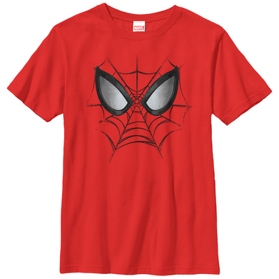 Youth: Spiderman- Web Face T-Shirt!