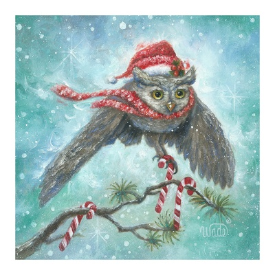 Owl Be Home for Christmas! Prints by Vickie Wade