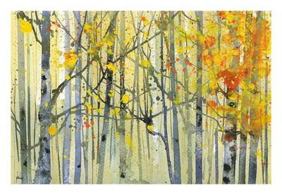 Autumn Birches Posters by Paul Bailey